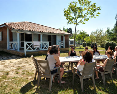 Location chalet Ardèche camping