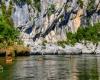 Camping rivière pont d'arc